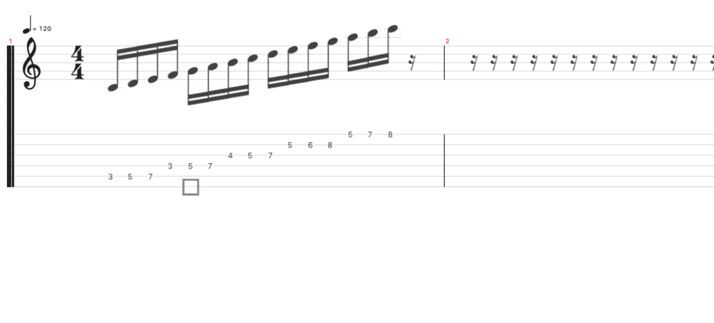 can guitar scales be played where