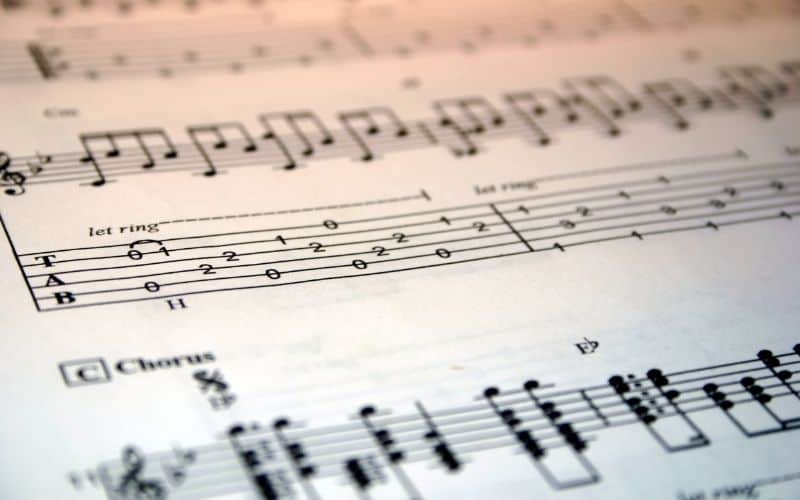 Sheet Music and Tablature