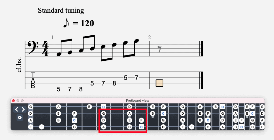 A Minor Scale on Bass
