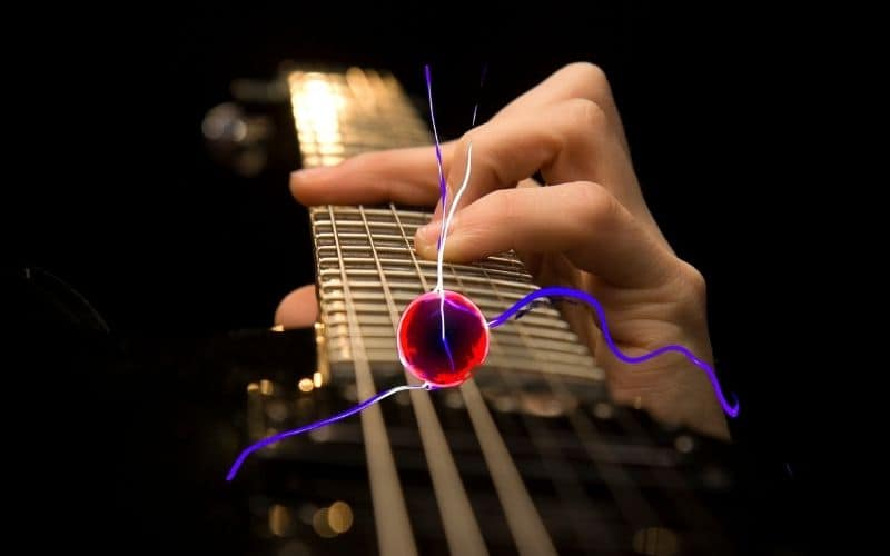 Guitar strings have to be electrically and magnetically conductive