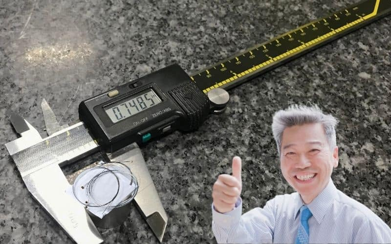 Digital Caliper is the Best Way of Measuring Guitar Strings - Without Question