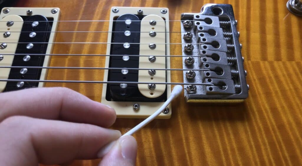Q-tip for Hard-to-Reach Spots - How To Set UP A PRS Guitar