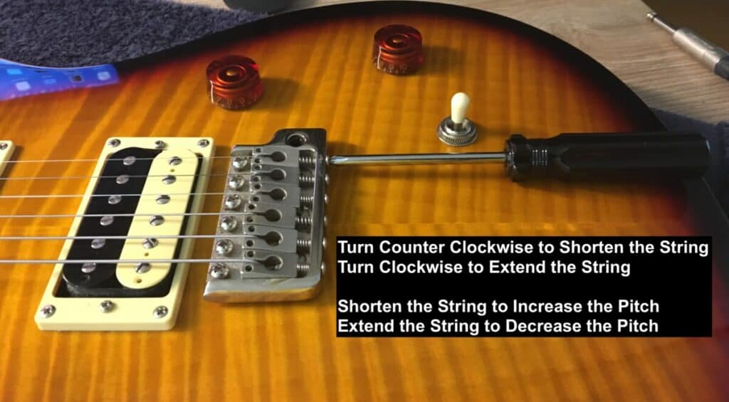 Setting the Intonation  - How to Set Up PRS Guitar
